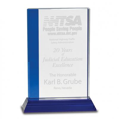 Blue Edge Crystal Award image