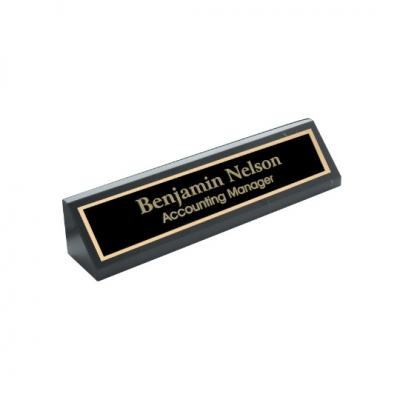 Black Genuine Marble Desk Wedge image