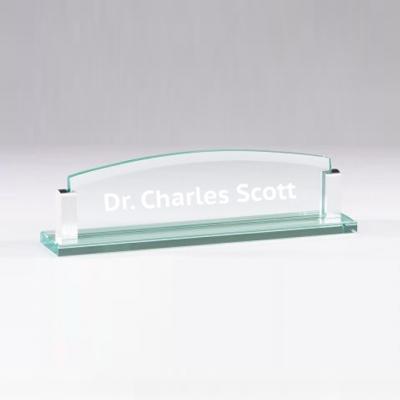 Glass Desk Name Plate image