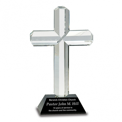Crystal Cross on Black Base image