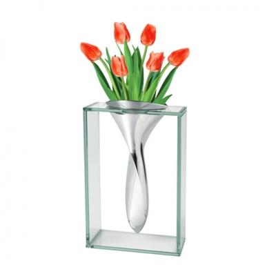 Aluminum & Glass Vase image