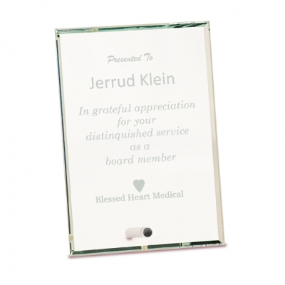 Beveled Edge Glass Plaque image