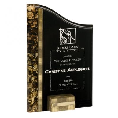 Gold & Black Acrylic Award image