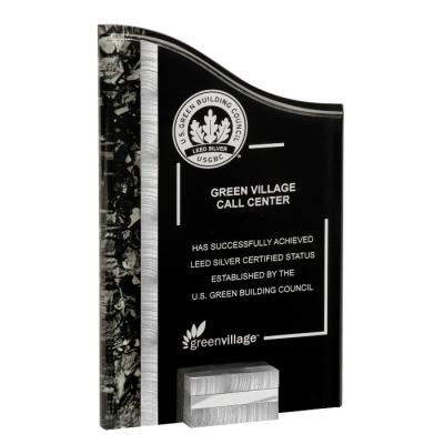 Silver & Black Acrylic Award image