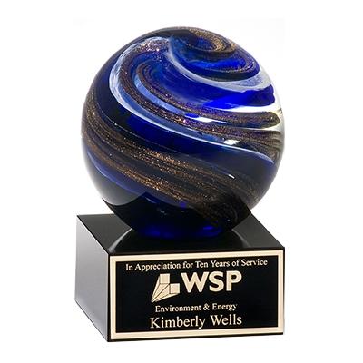 Blue Swirl Sphere image