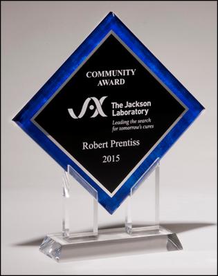 Blue Border Diamond Acrylic Award image
