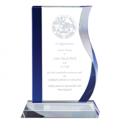 Blue Accented Wave Glass Award