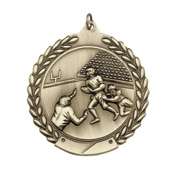 Football Wreath Medal