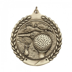Golf Wreath Medal