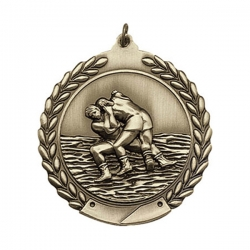 Wrestling Wreath Medal