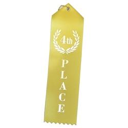 """4th Place"" Stock Ribbon"