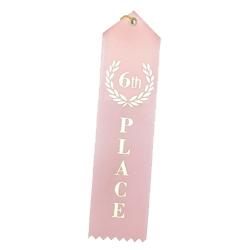 """6th Place"" Stock Ribbon"