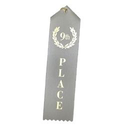 """9th Place"" Stock Ribbon"