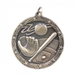 Star Wreath Baseball Medal