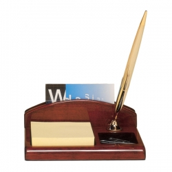 Piano Finish Rosewood Desk Organizer