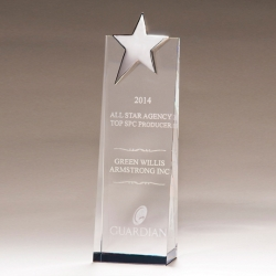 Silver Star Crystal Award