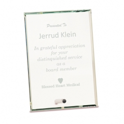 Beveled Edge Glass Plaque