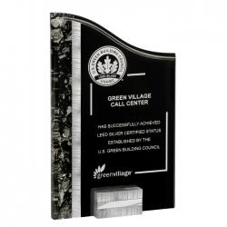 Silver & Black Acrylic Award