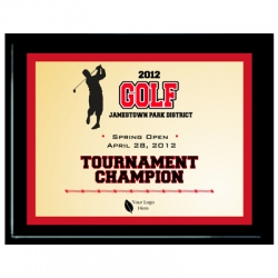 Red Golf Sport Plaque