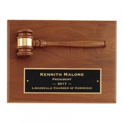 Horizontal Gavel Plaque