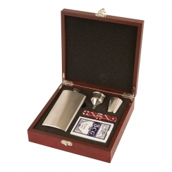 Flask & Cards Gift Set