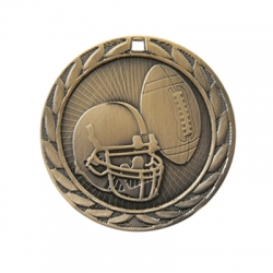 Football Sunburst Medal