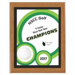 Flash Golf Sport Plaque
