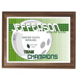 Lightning Bowling Sport Plaque