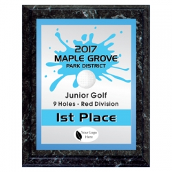Splash Golf Sport Plaque