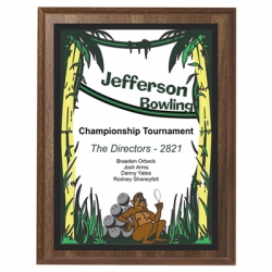 Jungle Bowling Sport Plaque
