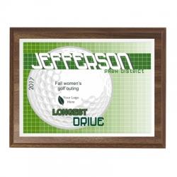 Lightning Golf Sport Plaque