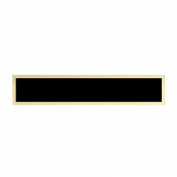 Black Brass Plate with Gold Border