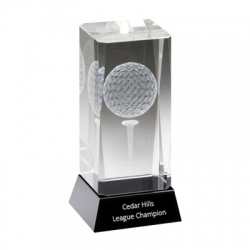3D Golf Ball Crystal Award