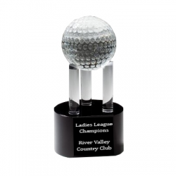 Crystal Golf Ball on Pillars