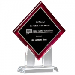 Red Border Diamond Acrylic Award