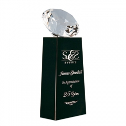 Diamond Crystal on Black Base Award