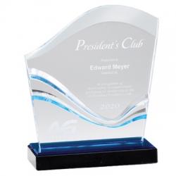 Blue Wave Acrylic Award