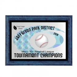 Hurricane Baseball Sport Plaque