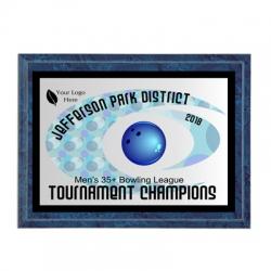Hurricane Bowling Sport Plaque
