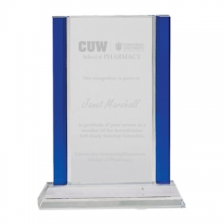 Blue Pillar Crystal Award