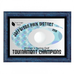 Hurricane Golf Sport Plaque