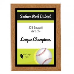 Islander Baseball Sport Plaque
