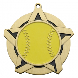 Softball Super Star Medal